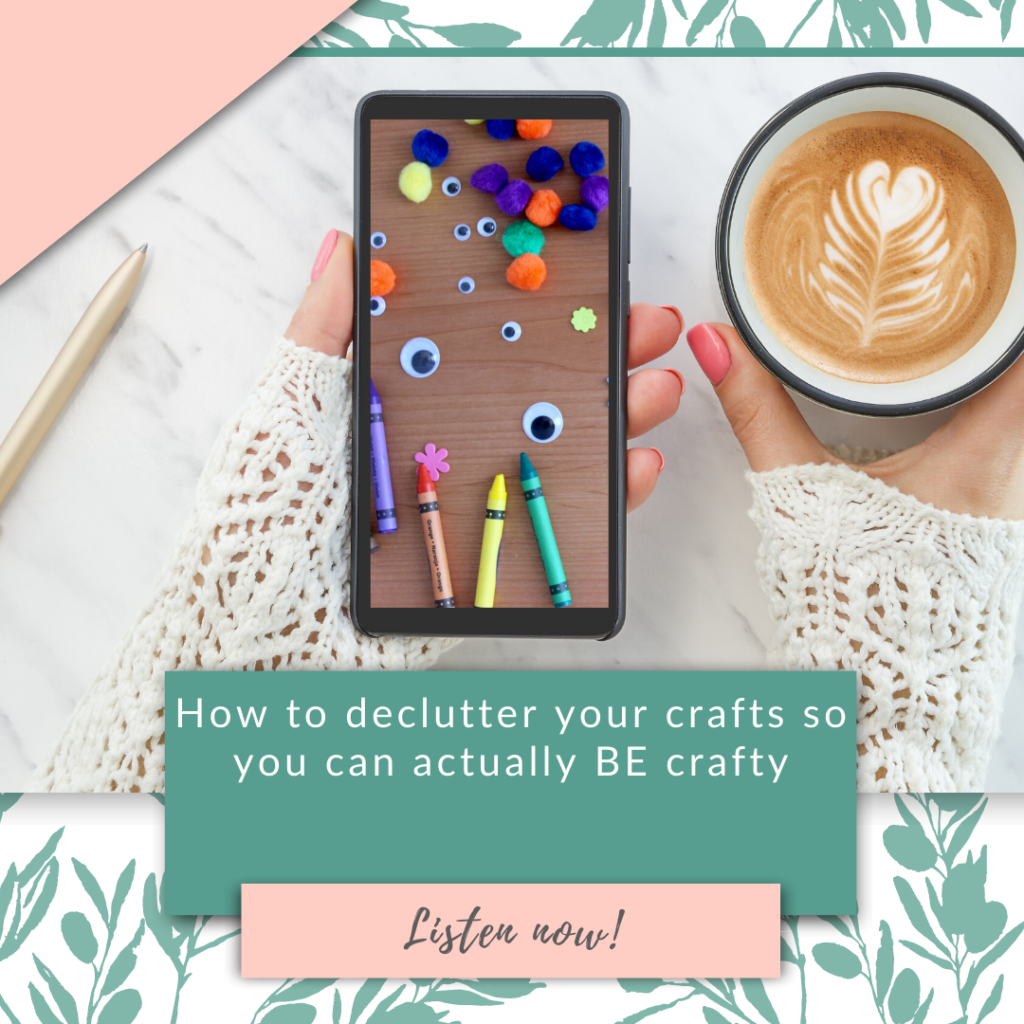 How to declutter your crafts so you can actually BE crafty
