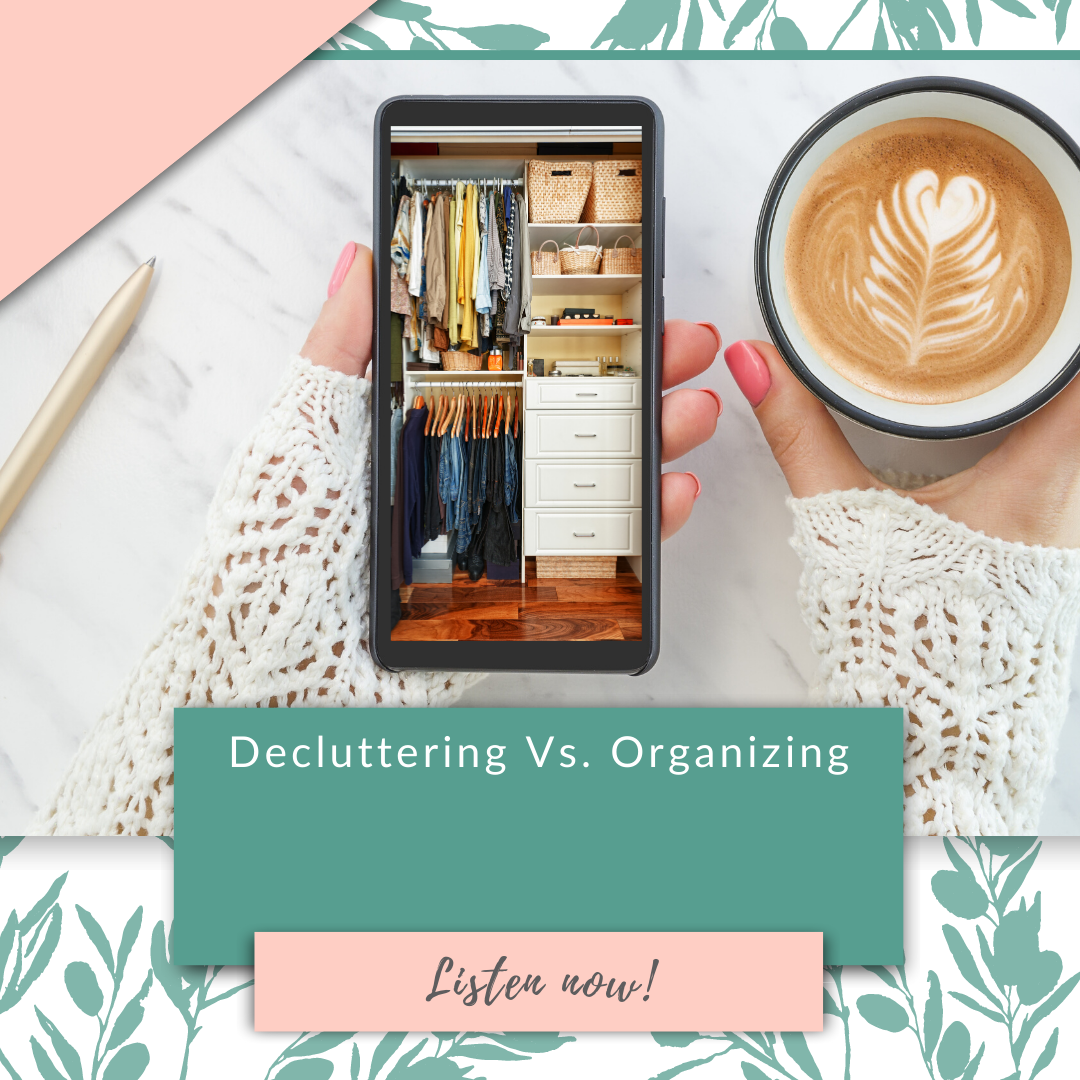 Decluttering Vs. Organizing